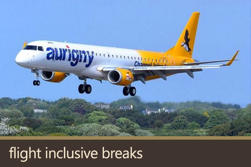 Flight inclusive breaks.